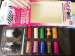 nail art sticker set with 10 rolls sticker and 2 nail polish