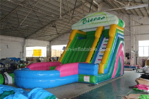 Colorful inflatable pool water slide for adult and children