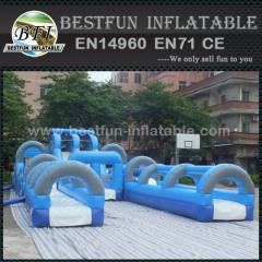 Giant inflatable slip and slide