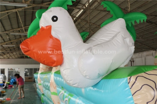 Jungle inflatable water slip slide with pool