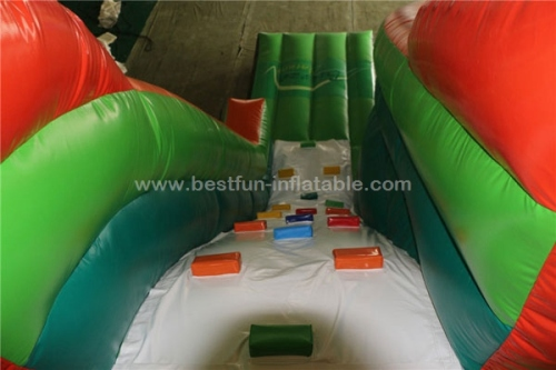 New design inflatable water slide with pool and climbing wall