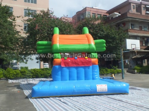 Piranha inflatable moving piranha slide centre for children
