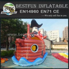 Bouncing fun inflatable pirate ship