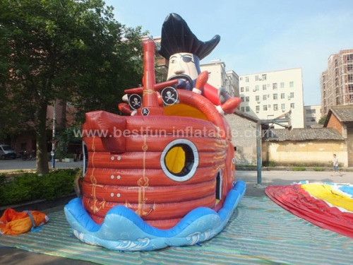 Pirate ship inflatable slides wave jumping slides inflatables