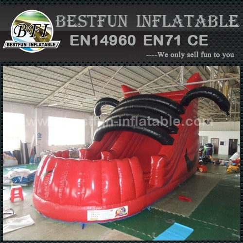 Shoe model inflatable bouncy dry slide