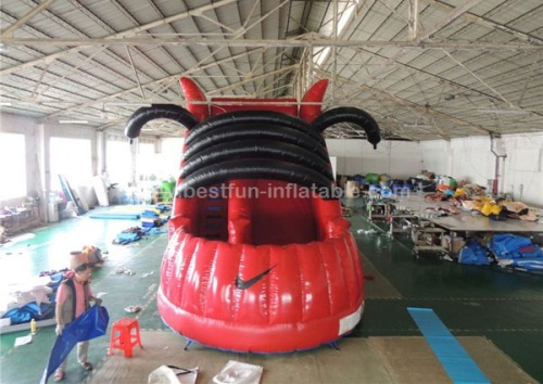 Red inflatable shoes slide new desgin 2016