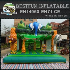 Inflatable safari park jumping bounce house