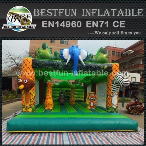 Inflatable safari park jumping bounce house