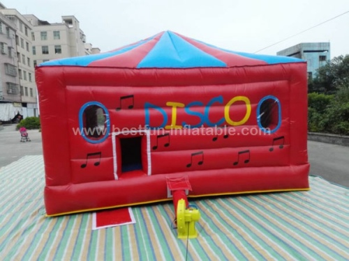 Disco inflatable jumping bounce house for children