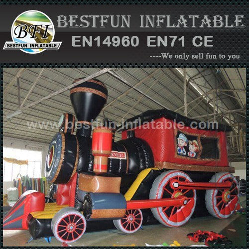 HOT inflatable train bouncy and slide combo