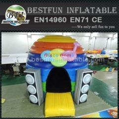 Kids disco opblaasbare koepel bounce huis met speaker