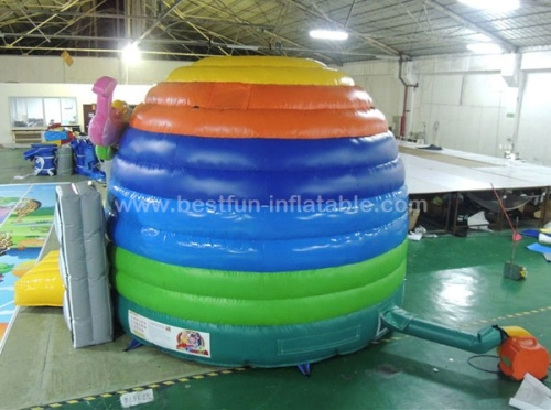 Kids inflatable disco dome bounce house with speaker