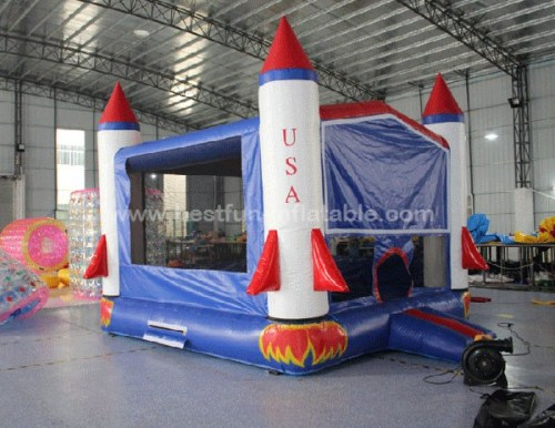 Usa rocket bounce house cheap 13ft moonwalk manufacturers for How to make a cheap rocket
