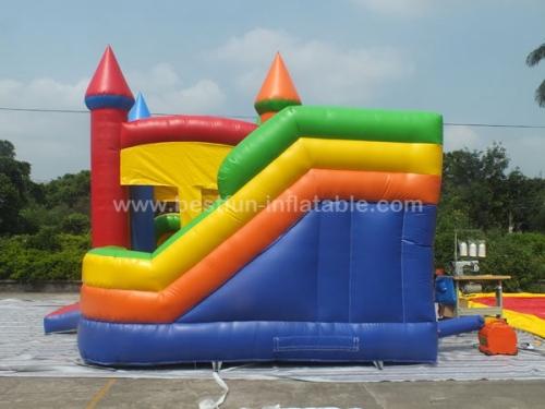 5 in 1 inflatable castle slide castle jumper combo