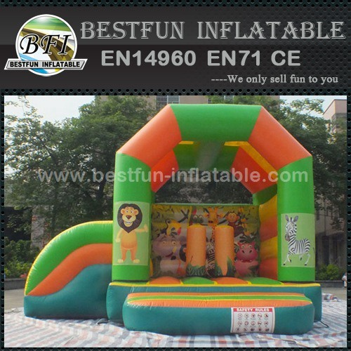 Safari park bouncy castle bed for children