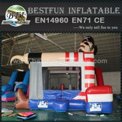 Captain inflatable bouncy castle with slide