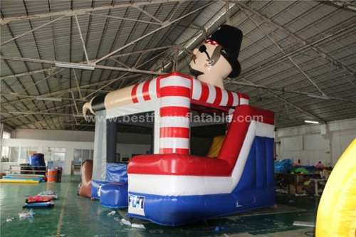 Pirate captain inflatable jumping bounce combo