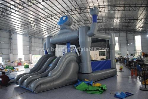 Robot bounce house with slide rob bouncy slide combo