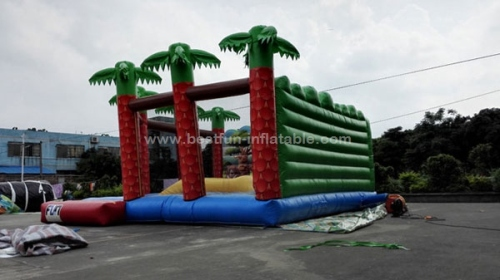 Jungle inflatable soft mountain with wall