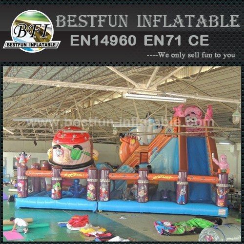 Giant inflatable bouncer movable playground