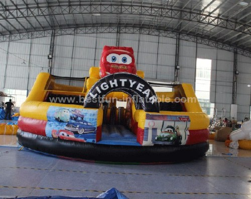 Racing car inflatable slides giant Inflatable car bouncer slide