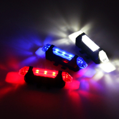 Portable Rechargeable LED USB Mountain Bike Tail Light