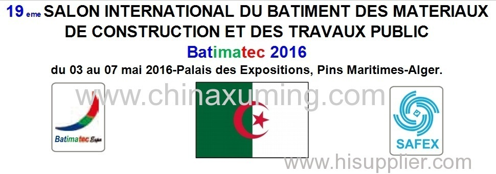 2016 Algeria Algier International Builnding Materials and Construction Equipment Exhibition