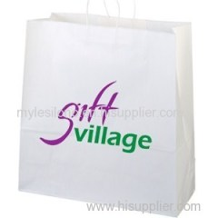 Personalized Duke White Paper Shopping Bags