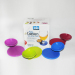 4pcs set of Party Coasters for goblet with a mini dried fruit aside