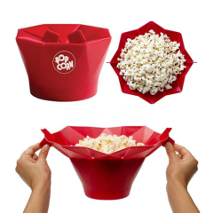 Silicon microwave popcorn bowl make Healthy Snack No Oil Fat