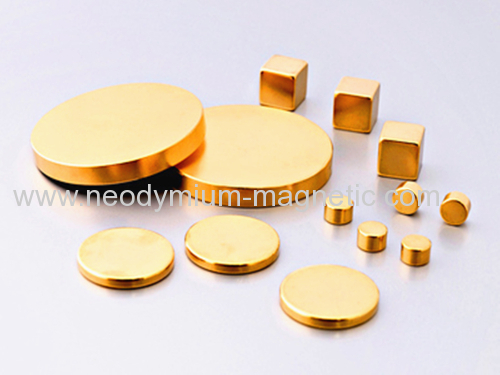 magnet disc rare earth magnet with gold plating