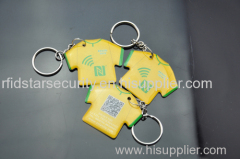 Access control ABS/epoxy/PVC RFID contactless identification keyfob tag