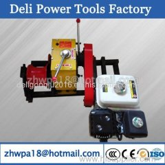Gasoline Capstan Winch cable puller Cable Pulling Winches 5T
