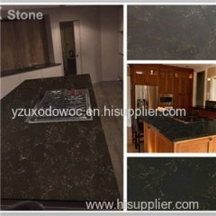 Black Veins Artificial Quartz Stone Table Tops