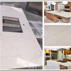Natural Marble Vein Quartz Stone Kitchen Countertop