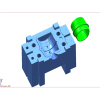 Blow molding plastic mould H