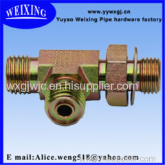 male thread reducing tee reducers hose connector hydraulic fitting
