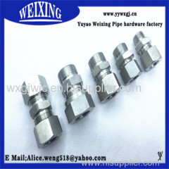strainless steel hose hydraulic fitting connector fitting adapter coupling equal coupling