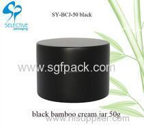 ECO BLACK BAMBOO CREAM JAR wooden packaging