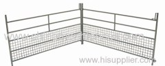 Mid range sheep hurdles with interlocking loops to join together.