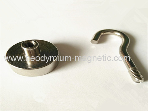 N52 grade strong powerful magnetic hook pot magnet