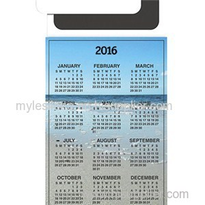 Magnetic Peel'n Stick Card - Calendar 6inch X 3.5inch Magnets
