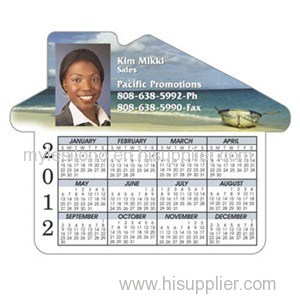 Calendar House 4.69inch X 3.75inch Magnets