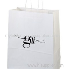 Imprinted Citation White Paper Shopping Bags