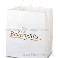 Customized Brute White Paper Shopping Bags