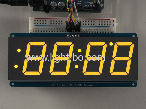 Ultra red 4 digit 1.2  7 segment led clock display for digital clock indicator