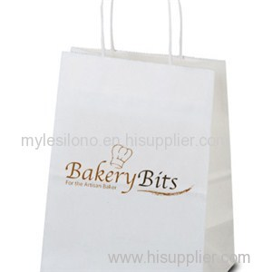Custom Mini White Paper Shopping Bags