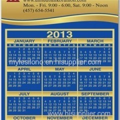Calendar Sq Crnr 4.94inch X 2.91inch Magnets