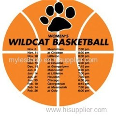 Printed Schedule Basketball 5.75in X 5.75in Magnets