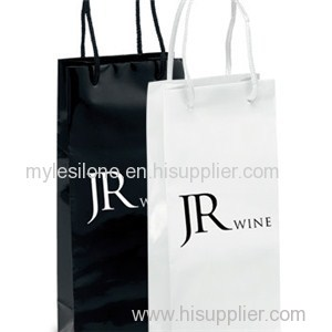 Chablis Gloss Wine Paper Bags Foil Hot Stamp